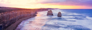 Sunset Over the Twelve Apostles in Victoria