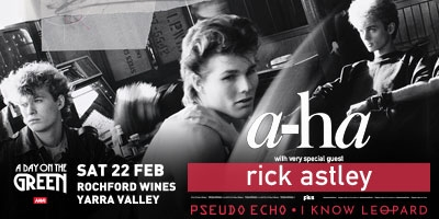 ADOTG a-ha with special guest Rick Astley Saturday 22nd February 2020